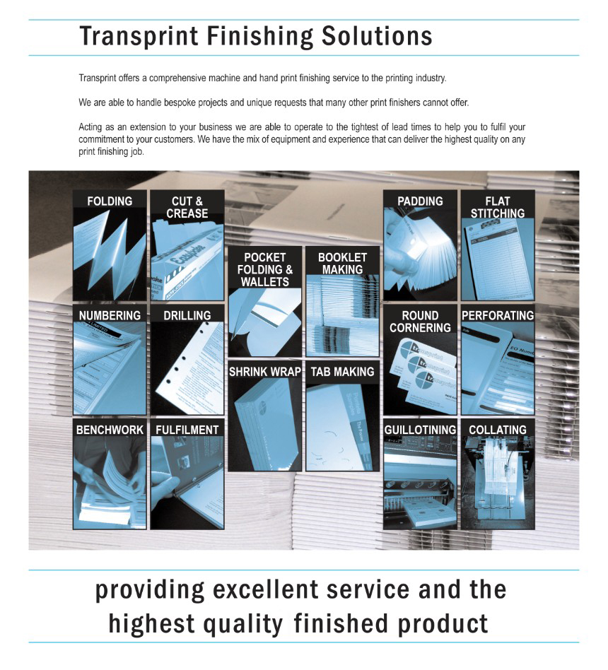 Transprint UK Finishing solutions